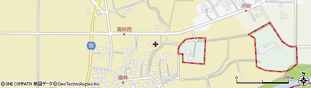 福島県天栄村(岩瀬郡)高林(沖田畑)周辺の地図