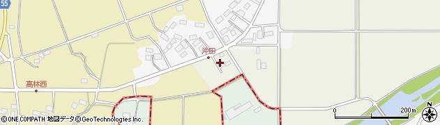 福島県天栄村(岩瀬郡)沖内(沖田)周辺の地図