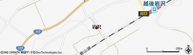 新潟県小千谷市岩沢周辺の地図