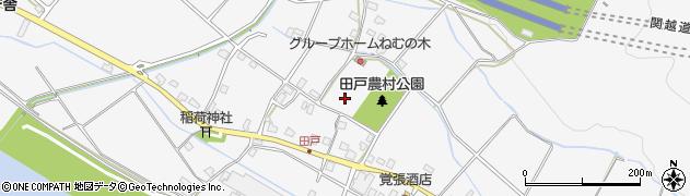 新潟県魚沼市田戸周辺の地図