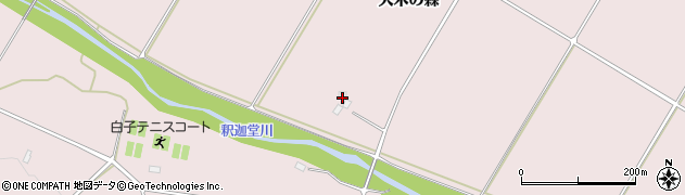 福島県天栄村(岩瀬郡)白子(李)周辺の地図