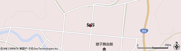 新潟県柏崎市女谷周辺の地図