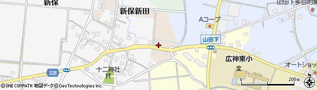 新潟県魚沼市新保新田周辺の地図