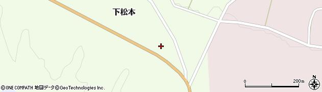 福島県天栄村(岩瀬郡)下松本(紺屋)周辺の地図