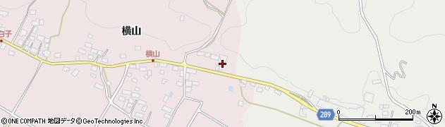 福島県天栄村(岩瀬郡)白子(横山)周辺の地図