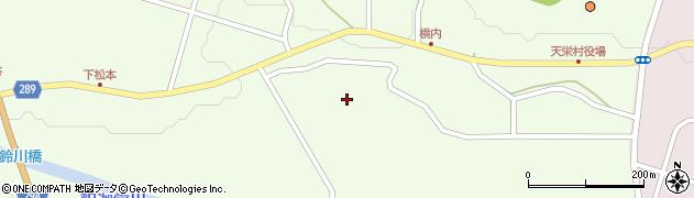 福島県天栄村(岩瀬郡)下松本(北川原)周辺の地図