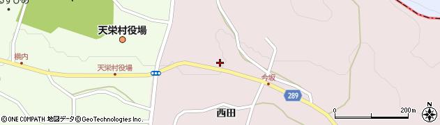 福島県天栄村(岩瀬郡)白子(家内神)周辺の地図