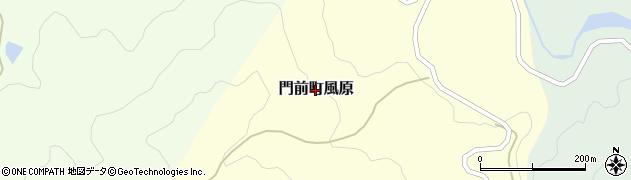 石川県輪島市門前町風原周辺の地図