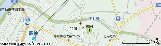 新潟県魚沼市今泉周辺の地図