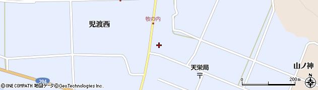 福島県天栄村(岩瀬郡)牧之内(児渡)周辺の地図