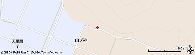 福島県天栄村(岩瀬郡)上松本(山ノ神)周辺の地図