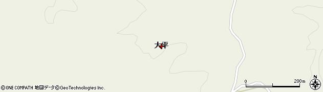 福島県いわき市川前町上桶売(大平)周辺の地図