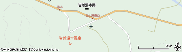福島県天栄村(岩瀬郡)湯本(湯田)周辺の地図