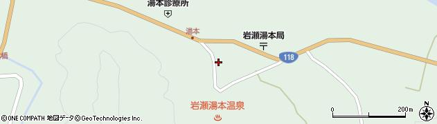 福島県天栄村(岩瀬郡)湯本(居平)周辺の地図