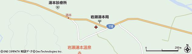 福島県天栄村(岩瀬郡)湯本(中田)周辺の地図