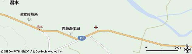 福島県天栄村(岩瀬郡)湯本(糯田)周辺の地図