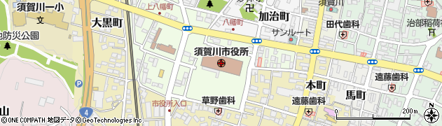 福島県須賀川市周辺の地図
