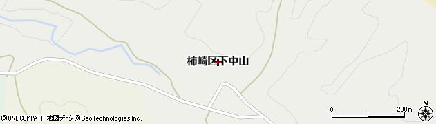 新潟県上越市柿崎区下中山周辺の地図