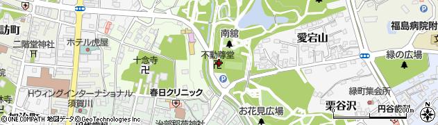 不動尊堂周辺の地図