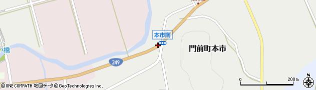 本市南周辺の地図