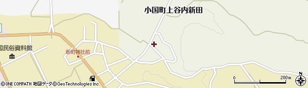 新潟県長岡市小国町上谷内新田周辺の地図