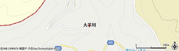 新潟県魚沼市大芋川周辺の地図
