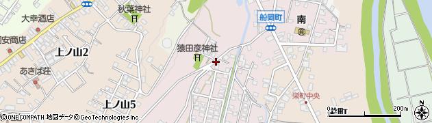 新潟県小千谷市船岡周辺の地図