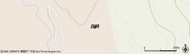 新潟県柏崎市高畔周辺の地図