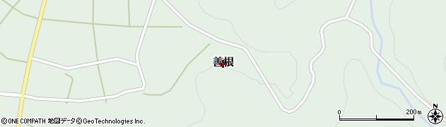 新潟県柏崎市善根周辺の地図