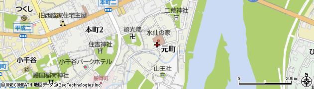 新潟県小千谷市元町周辺の地図