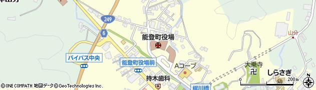 石川県能登町(鳳珠郡)周辺の地図