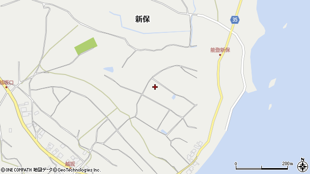 〒927-0609 石川県鳳珠郡能登町新保の地図