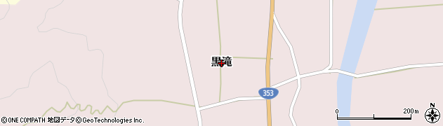 新潟県柏崎市黒滝周辺の地図