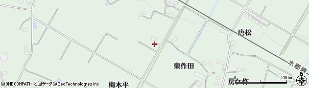 福島県郡山市田村町岩作(梅木平)周辺の地図