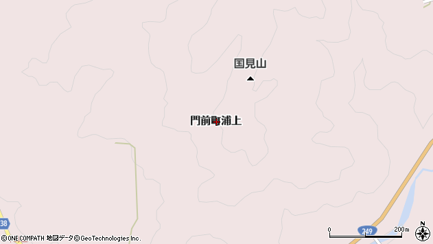 〒927-2102 石川県輪島市門前町八幡の地図