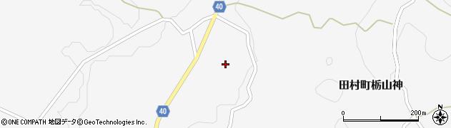 福島県郡山市田村町栃山神(東)周辺の地図