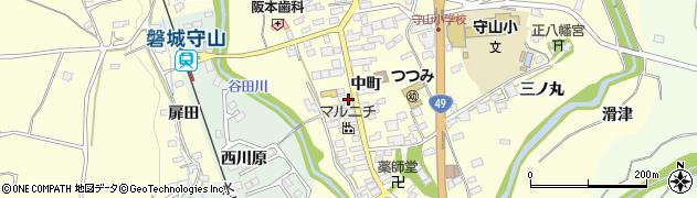 福島県郡山市田村町守山(中町)周辺の地図