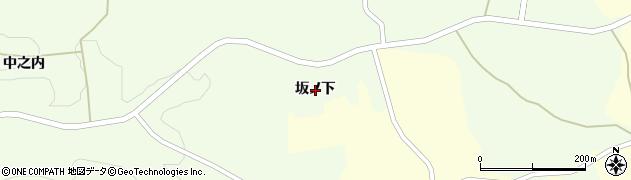 福島県郡山市田村町下道渡(坂ノ下)周辺の地図