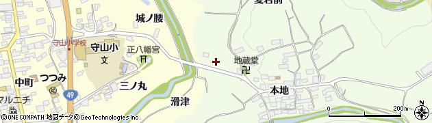 福島県郡山市田村町大供(地蔵前)周辺の地図