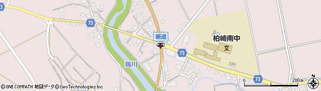 新道周辺の地図