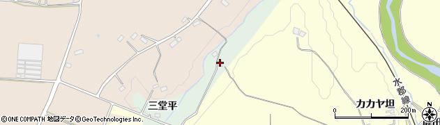 福島県郡山市田村町岩作(三堂平)周辺の地図