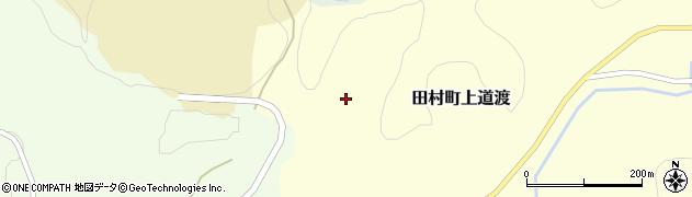 福島県郡山市田村町上道渡(権現坦)周辺の地図