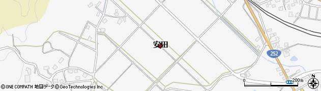 新潟県柏崎市安田周辺の地図