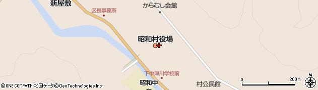 福島県大沼郡昭和村周辺の地図