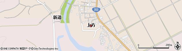 新潟県柏崎市上方周辺の地図