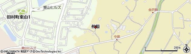 福島県郡山市田村町金沢(仲原)周辺の地図
