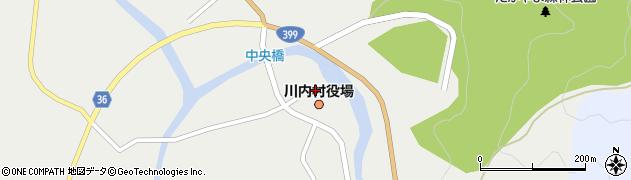 福島県双葉郡川内村周辺の地図