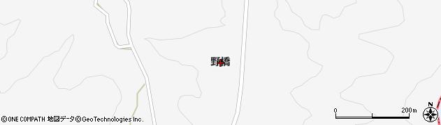 福島県郡山市中田町中津川(野橋)周辺の地図