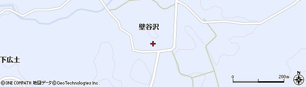 福島県郡山市田村町川曲(壁谷沢)周辺の地図