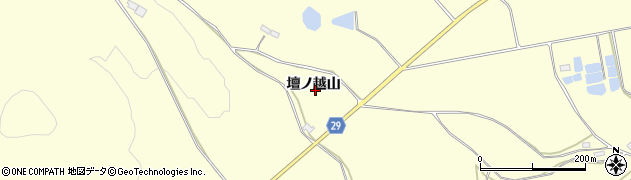 福島県郡山市三穂田町下守屋(壇ノ越山)周辺の地図